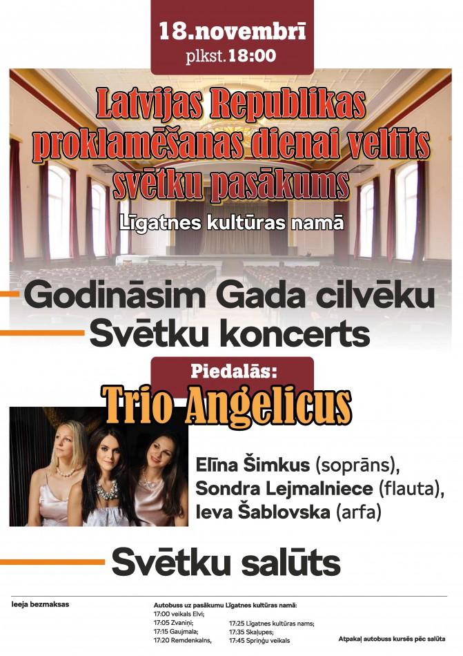 Svētku koncerts Līgatnes kultūras namā