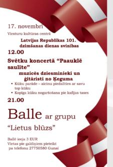 Latvijas Republikas 101. Dzimšanas dienas svinības Rundālē