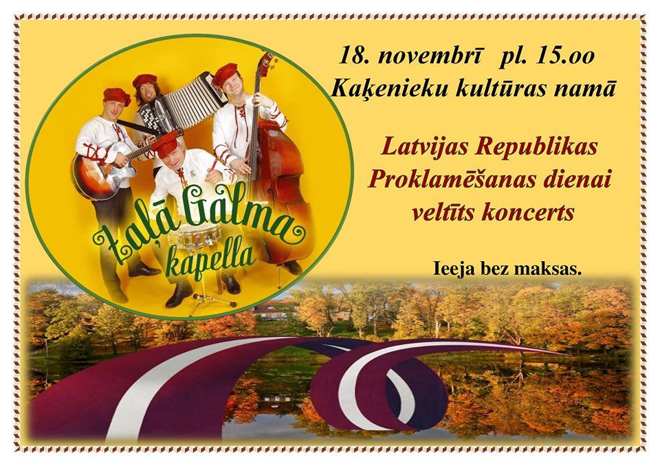 Latvijas Republikas Proklomēšanas dienas pasākums Kaķeniekos