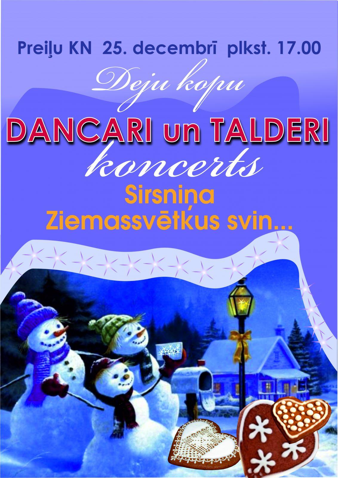"""Deju kopu """"DANCARI"""" un """"TALDERI"""" Ziemassvētku koncerts"""