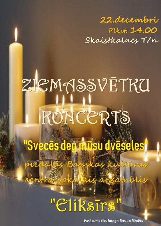 Ziemassvētku koncerts Skaistkalnes tautas namā