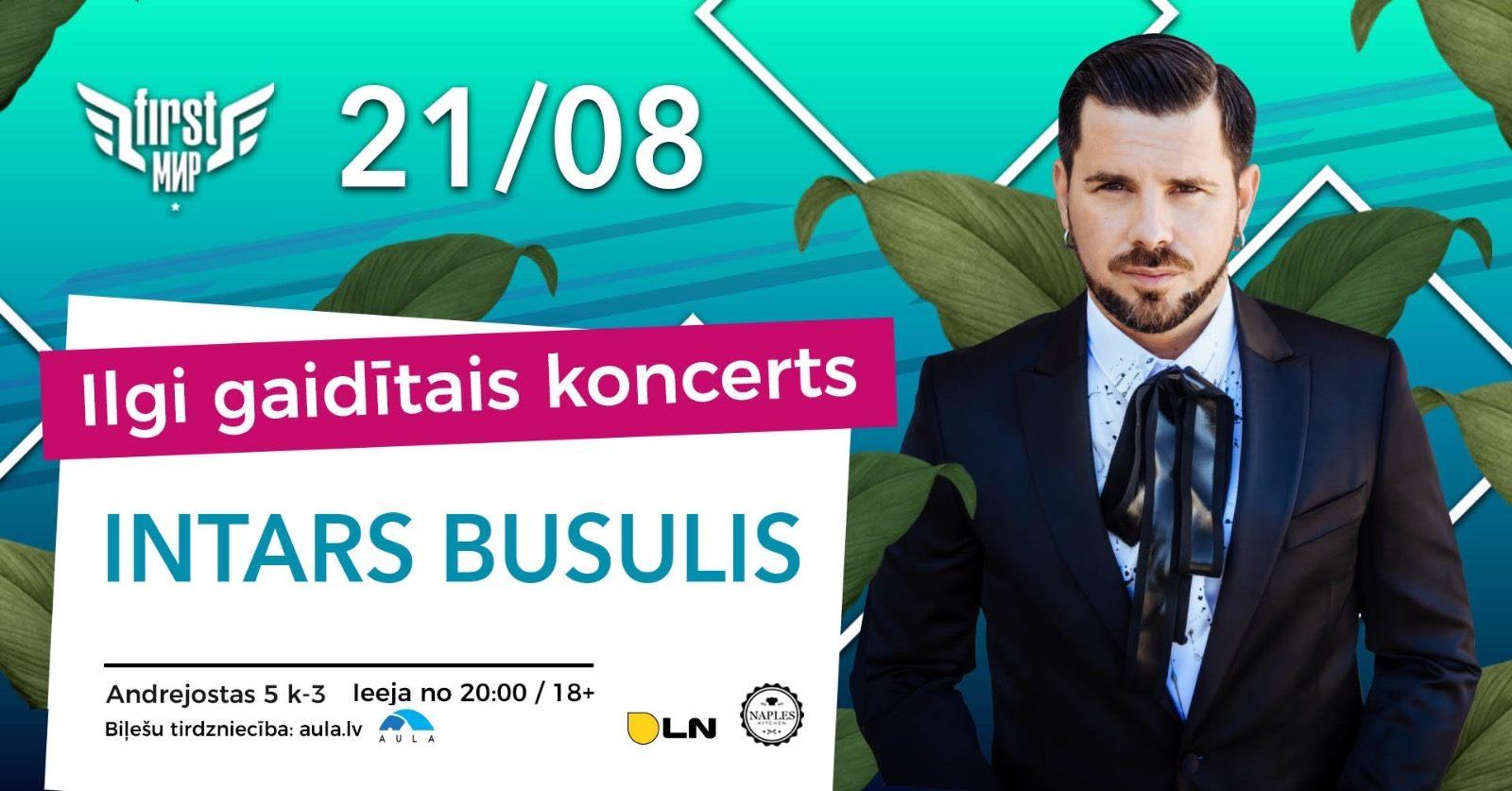 Vasaras gaidītākais koncerts ar Intaru Busuli