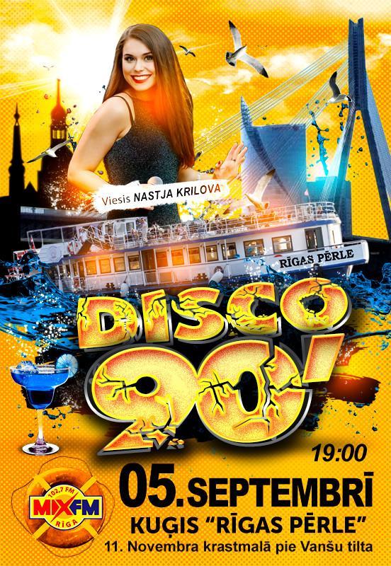 Radio MIX FM 102,7 deju mūzika uz RĪGAS PĒRLE klāja. DISCO-90